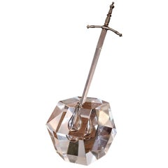 Midcentury Steuben Style Excalibur Paperweight