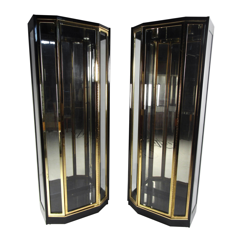 Midcentury Stewart Kaulf Henredon Curio Display Cabinets