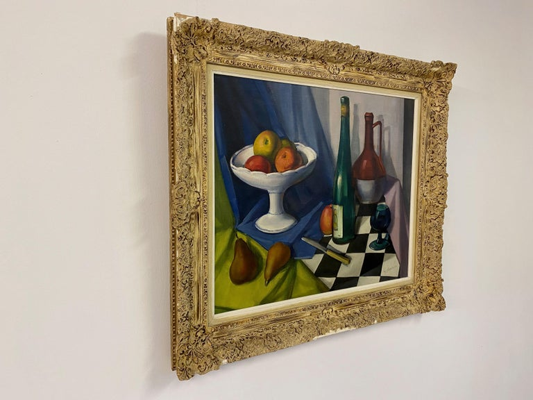 Mid Century Still Life Oil Painting For Sale 4