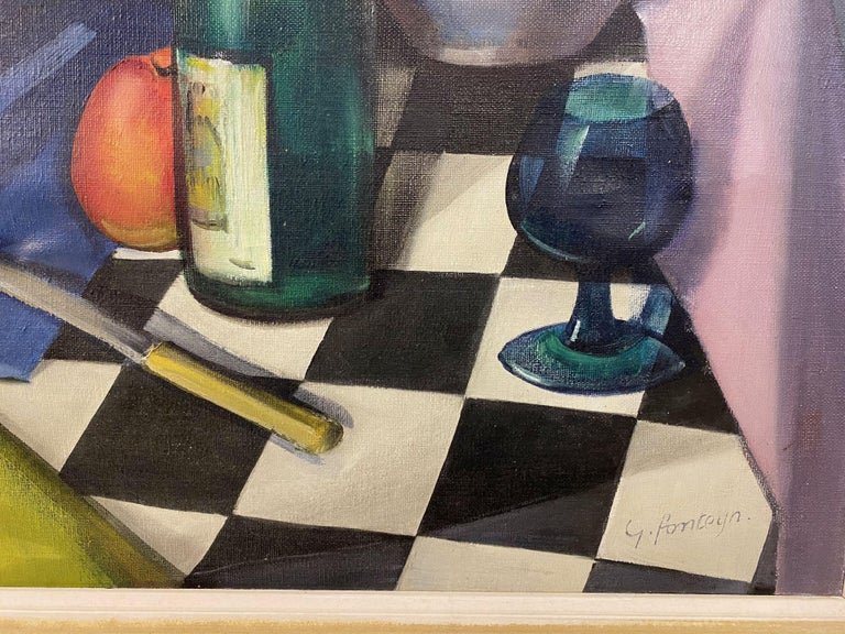 20th Century Mid Century Still Life Oil Painting For Sale