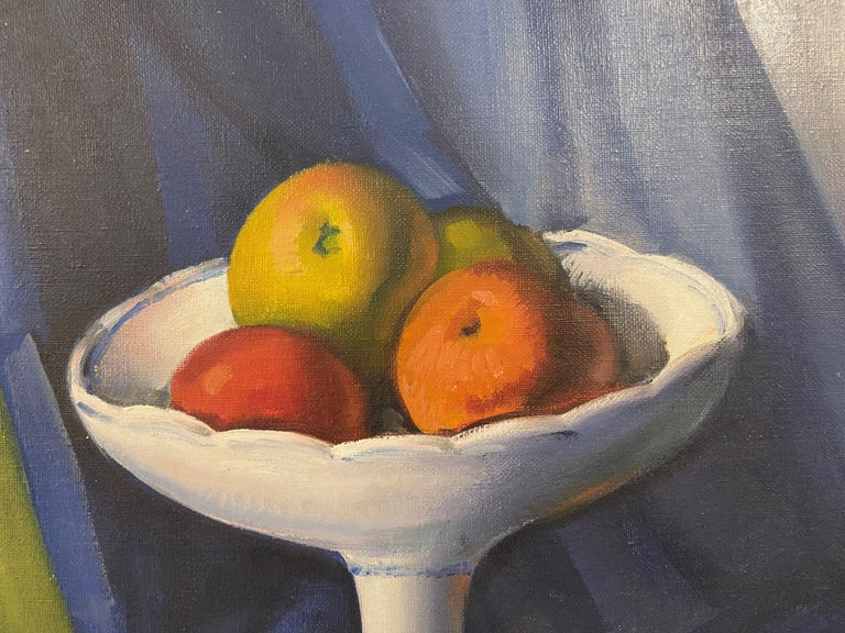 Canvas Mid Century Still Life Oil Painting For Sale