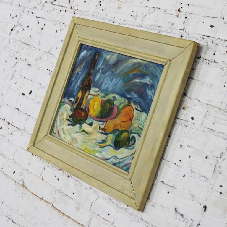 20th Century Midcentury Still Life with Fruit and Wine Bottle by Lee Tonar, 1959 For Sale