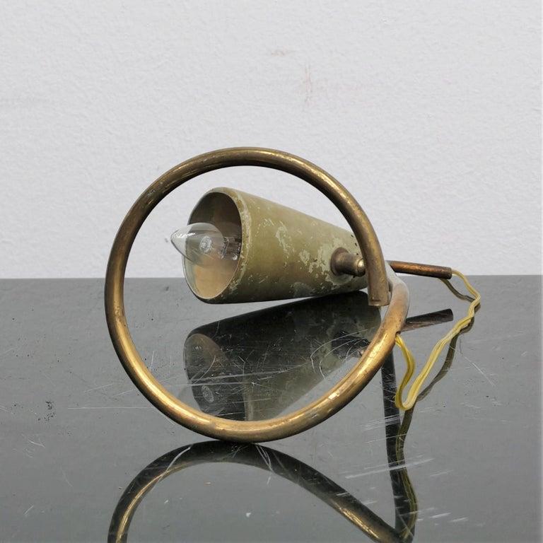 Mid-Century Stilnovo Adjustable Brass Table Lamp, 50s, Italy For Sale 5