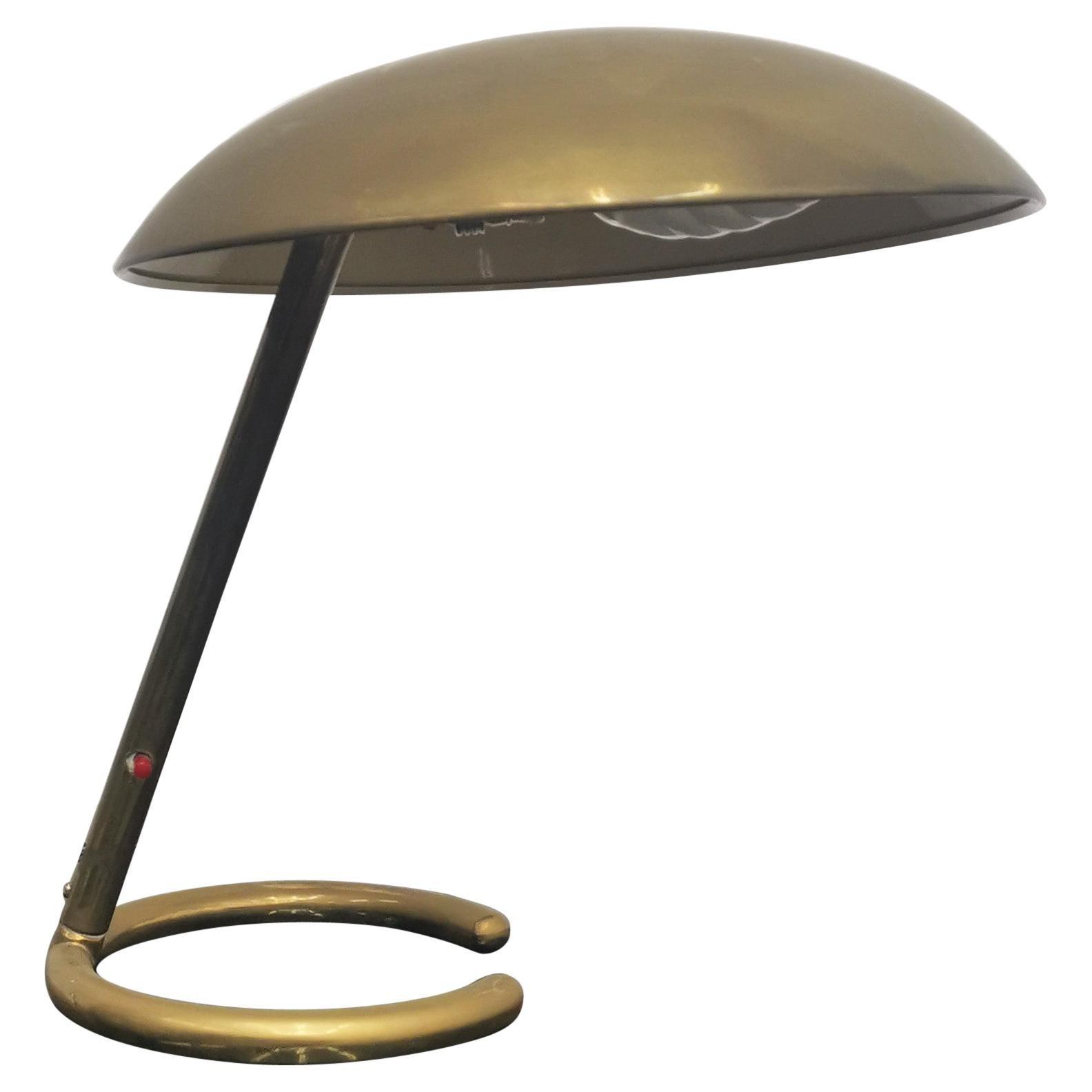 Mid-Century Stilnovo Adjustable Brass Table Lamp, 50s, Italy