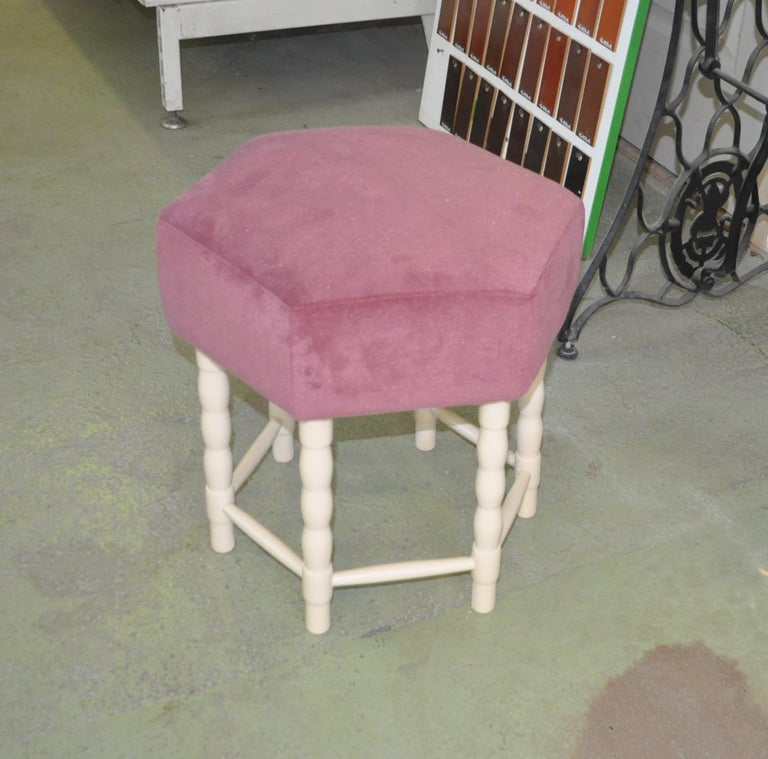 Hungarian Midcentury Stool or Ottoman, 1960s For Sale