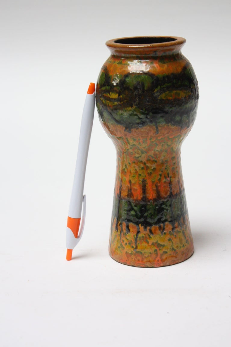 Mid-Century Modern Midcentury Studio Pottery Terracotta Vase For Sale