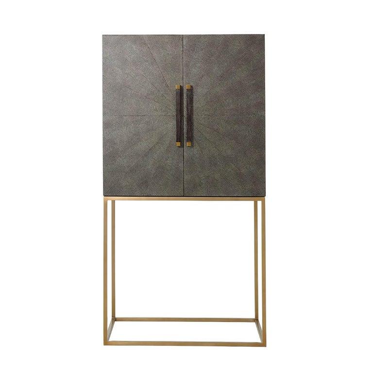 European Midcentury Style Bar Cabinet, Dark For Sale