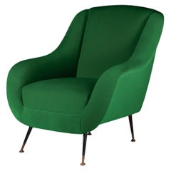 Midcentury Style Italian Lounge Chair Moss Green