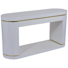 Mid Century Modern Style Lacquered Console