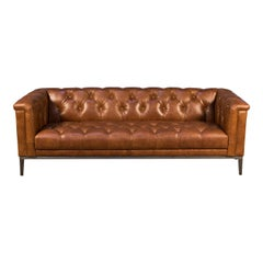 Mid Century Style Leather Sofa