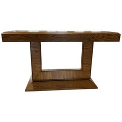 Midcentury Style Oak Console Table