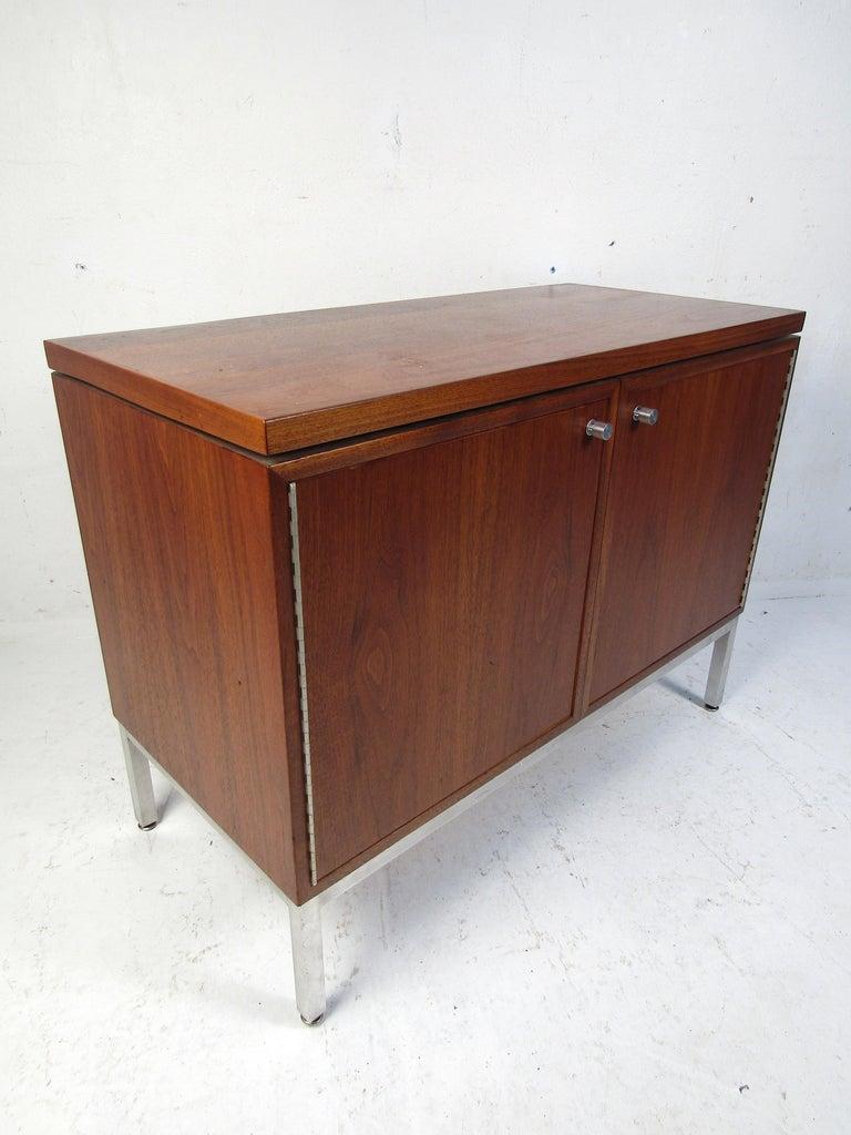 Veneer Midcentury Style Storage Cabinet For Sale