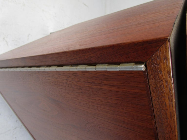 Walnut Midcentury Style Storage Cabinet For Sale