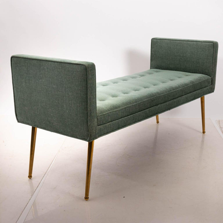 Mid-Century Modern Midcentury Style Upholstered Bench For Sale
