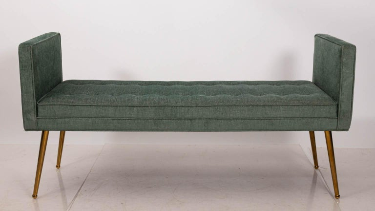Midcentury Style Upholstered Bench In Good Condition For Sale In Stamford, CT