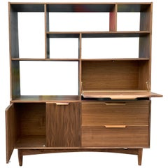 Midcentury Style Walnut Room Divider / Wall Unit