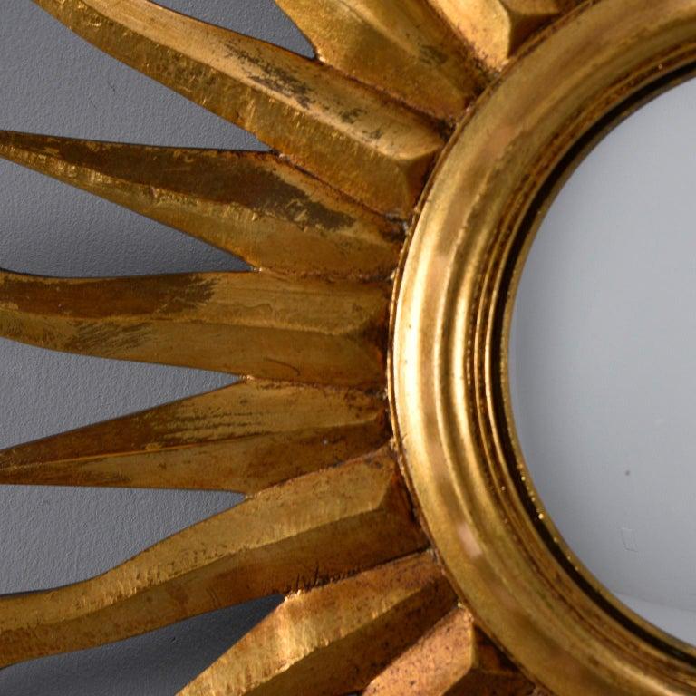 European Midcentury Sunburst Mirror For Sale