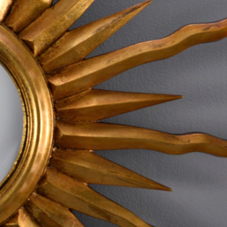 Midcentury Sunburst Mirror In Good Condition For Sale In Troy, MI