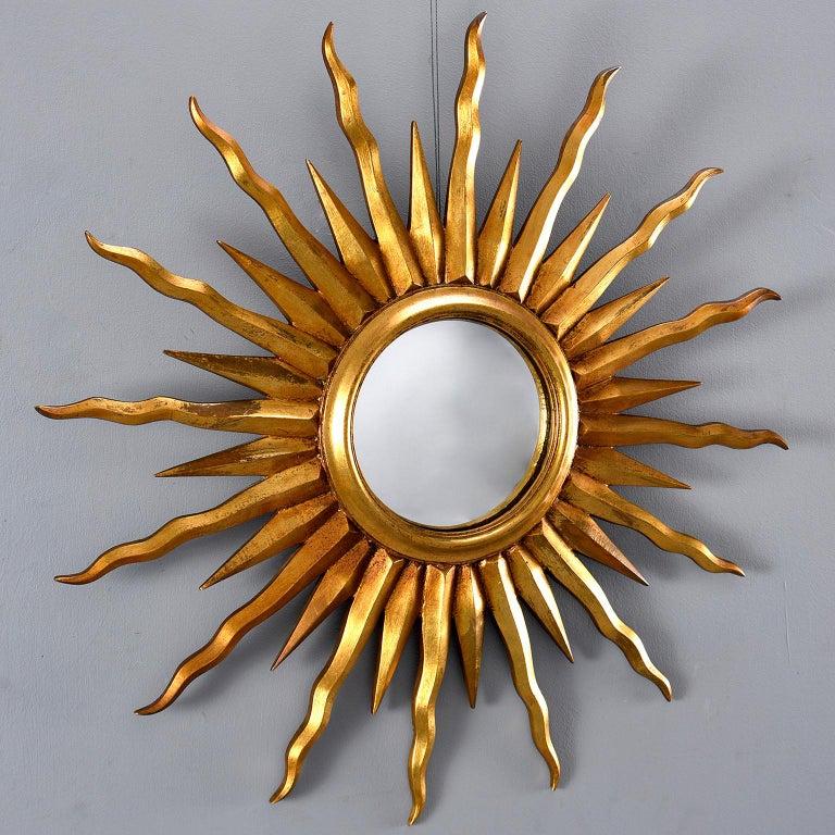 Midcentury Sunburst Mirror For Sale 1