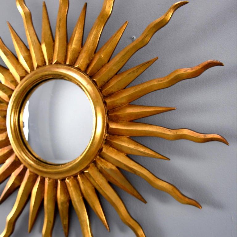 Midcentury Sunburst Mirror For Sale 2