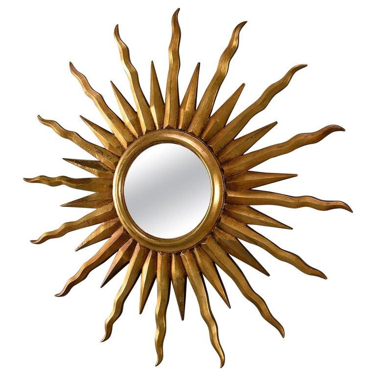 Midcentury Sunburst Mirror For Sale
