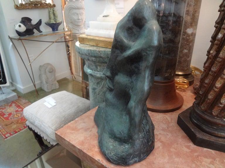 Midcentury Surrealist Bronze Bust after Salvador Dali For Sale 1