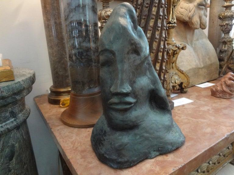 Midcentury Surrealist Bronze Bust after Salvador Dali For Sale 3