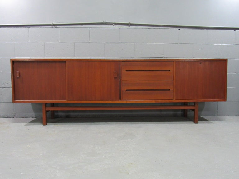Mid-Century Modern Midcentury Swedish Long Sideboard Credenza by Nils Jonsson for Hugo Troeds For Sale