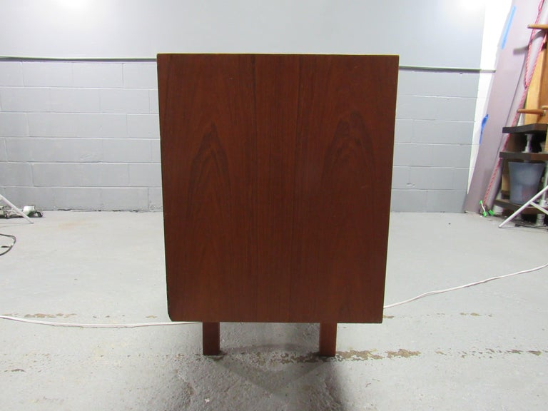 Midcentury Swedish Long Sideboard Credenza by Nils Jonsson for Hugo Troeds In Good Condition For Sale In Belmont, MA