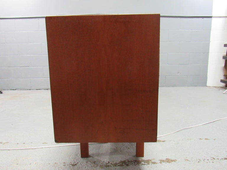 Midcentury Swedish Long Sideboard Credenza by Nils Jonsson for Hugo Troeds For Sale 2