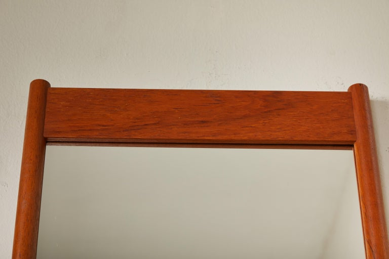Stained Mid Century Swedish Mirror with Shelf For Sale