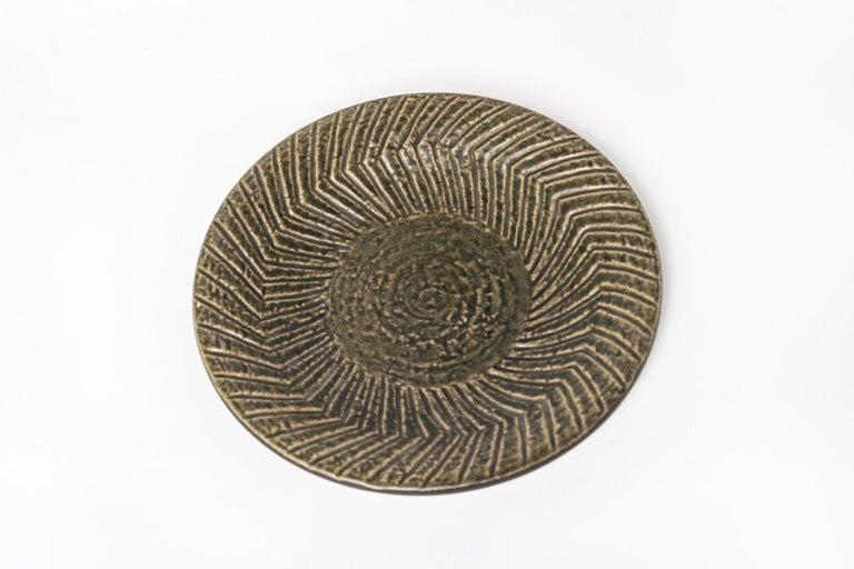 Mid-Century Modern Midcentury Swedish Modern Mari Simmulson for Upsala-Ekeby Ceramic Plate For Sale