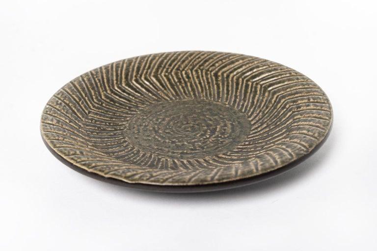 Midcentury Swedish Modern Mari Simmulson for Upsala-Ekeby Ceramic Plate In Good Condition For Sale In Detroit, MI