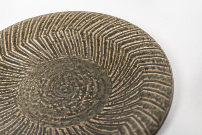 Midcentury Swedish Modern Mari Simmulson for Upsala-Ekeby Ceramic Plate For Sale 1