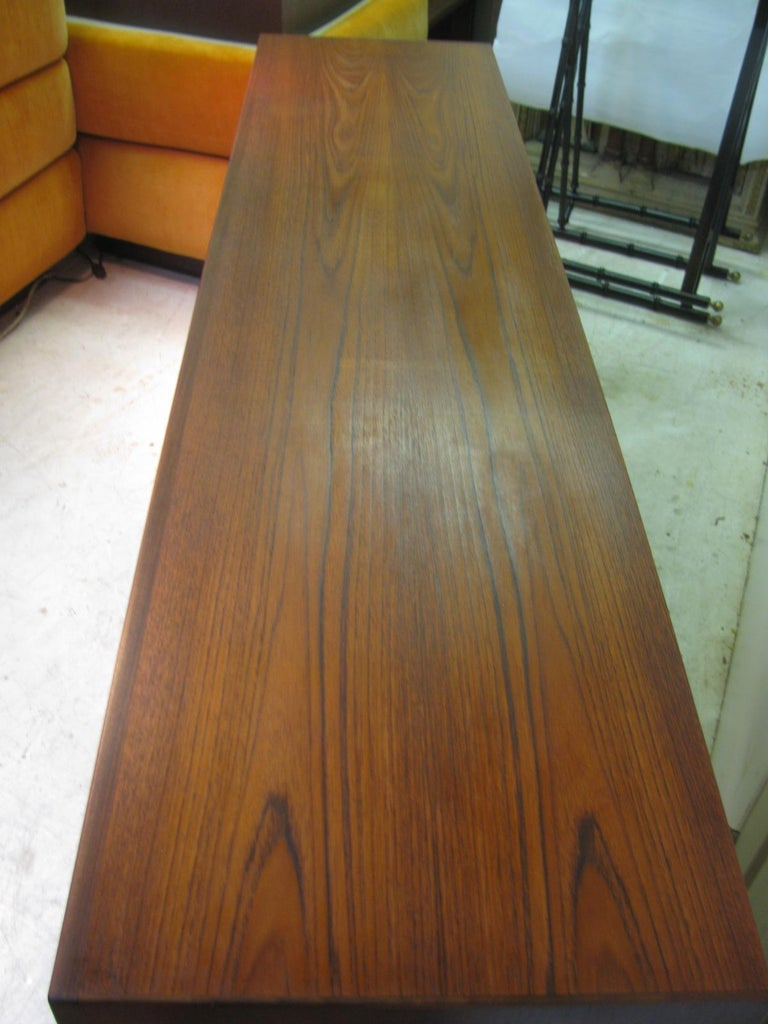 Mid Century Swedish Modern Teak Credenza In Good Condition In Port Jervis, NY