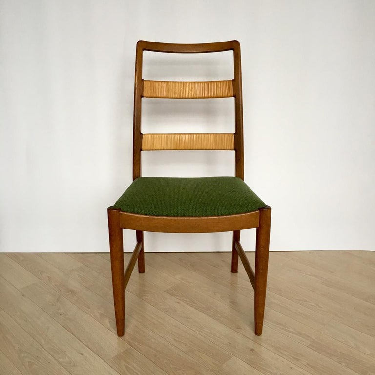 Midcentury Swedish Oak Chairs by Bertil Fridhagen for Bodafors, Set of 4, 1961 In Good Condition For Sale In Riga, Latvia