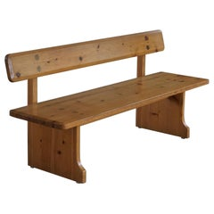 Mid Century Swedish Pine Bench, Made by Carl Malmsten for Karl Andersson & Söner