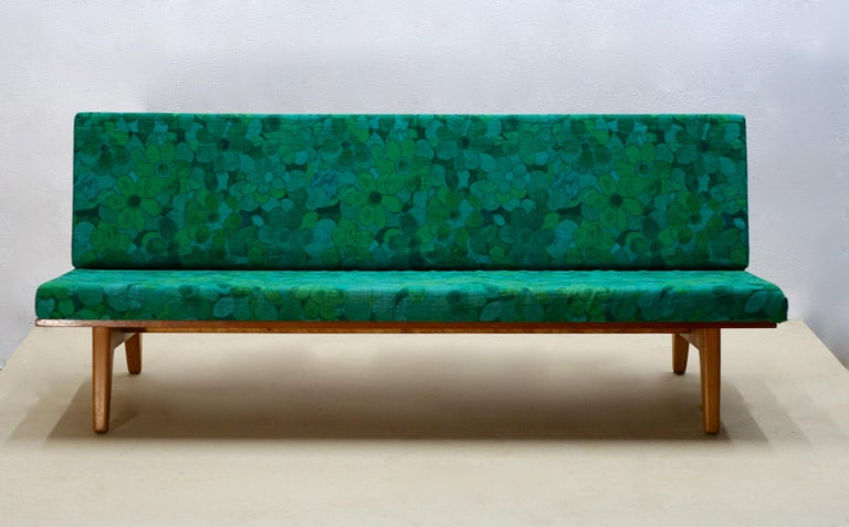 Midcentury Swedish Teak and Beechwood Sofa or Daybed by Gustaf Hiort Af Ornäs 2