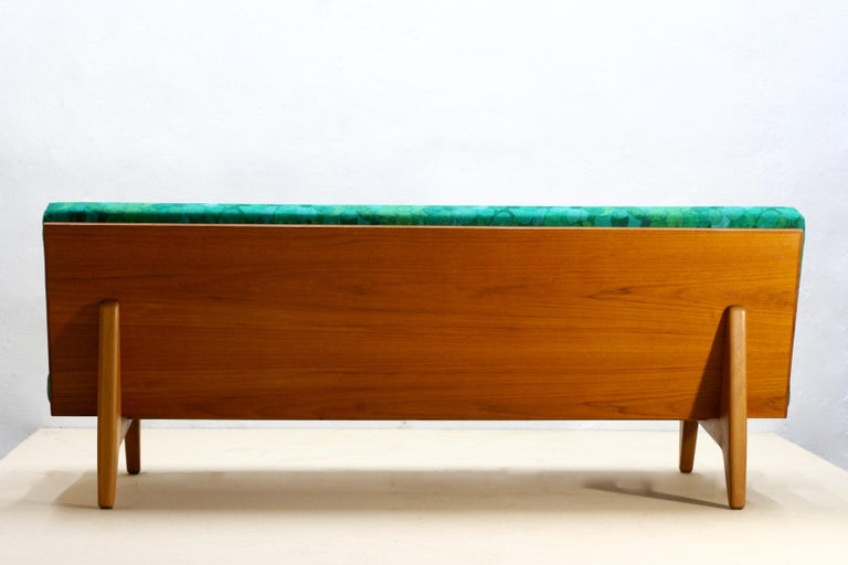 Midcentury Swedish Teak and Beechwood Sofa or Daybed by Gustaf Hiort Af Ornäs 4