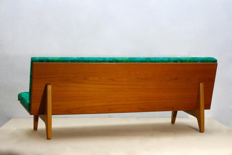 Midcentury Swedish Teak and Beechwood Sofa or Daybed by Gustaf Hiort Af Ornäs 5