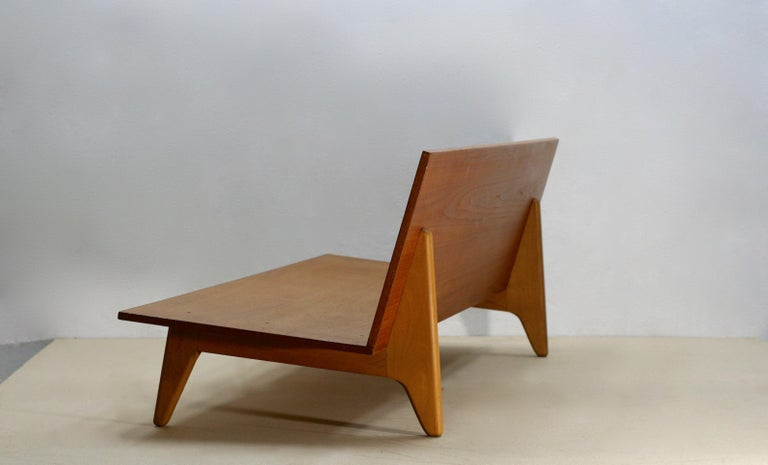 Midcentury Swedish Teak and Beechwood Sofa or Daybed by Gustaf Hiort Af Ornäs 6
