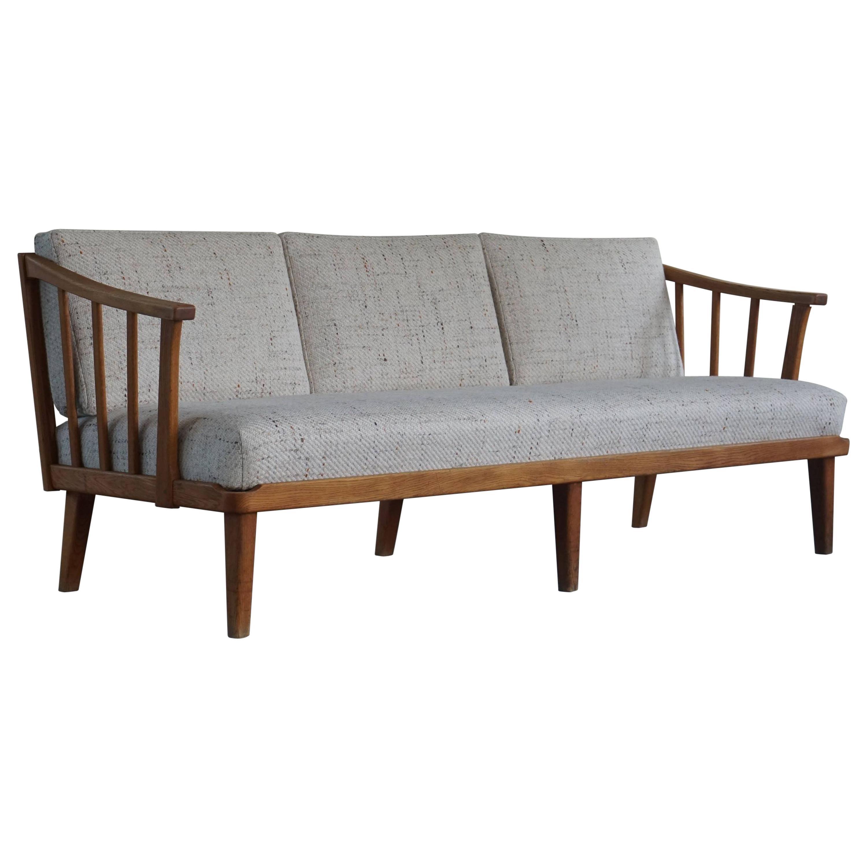 "Mid Century Swedish Three Seater Sofa by Carl Malmsten, Model ""Visingsö"", 1960s"