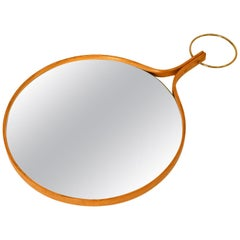 Midcentury Swedish Wall or Hand Mirror by Hans-Agne Jakobsson, 1950s