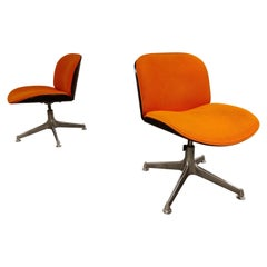 Mid Century Swivel Chairs by Ico Parisi for MIM Italy, 1960s