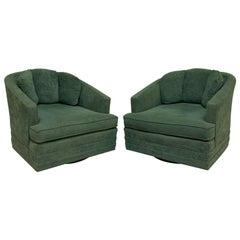 Midcentury Swivel Club Chairs by Kaylyn, a Pair