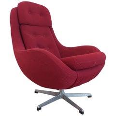 Midcentury Swivel Lounge Armchair, 1970s
