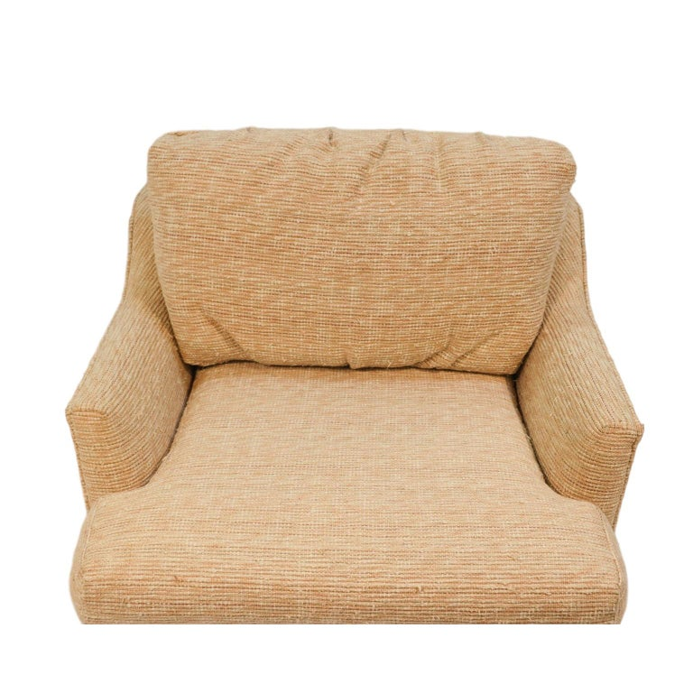 Mid-Century Modern Midcentury Swivel Tub Lounge Chair Milo Baughman Style For Sale