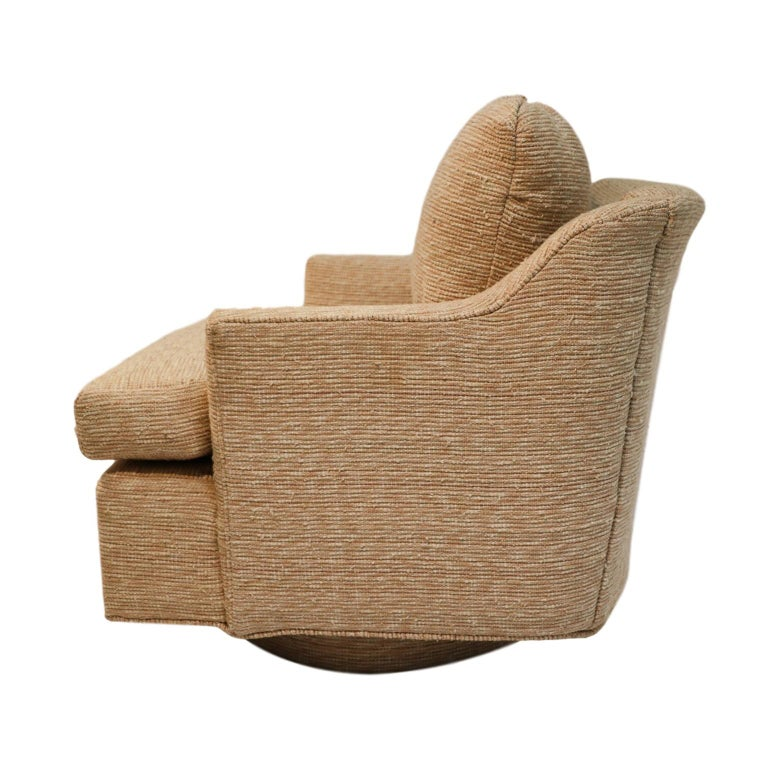 Mid-20th Century Midcentury Swivel Tub Lounge Chair Milo Baughman Style For Sale