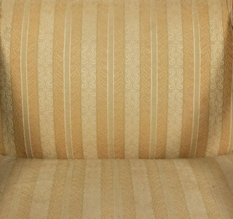 Midcentury Sycamore Upholstered Armchairs For Sale 4
