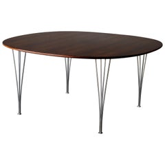 Midcentury Table by Piet Hein and Bruno Mathsson in Brazilian Rosewood